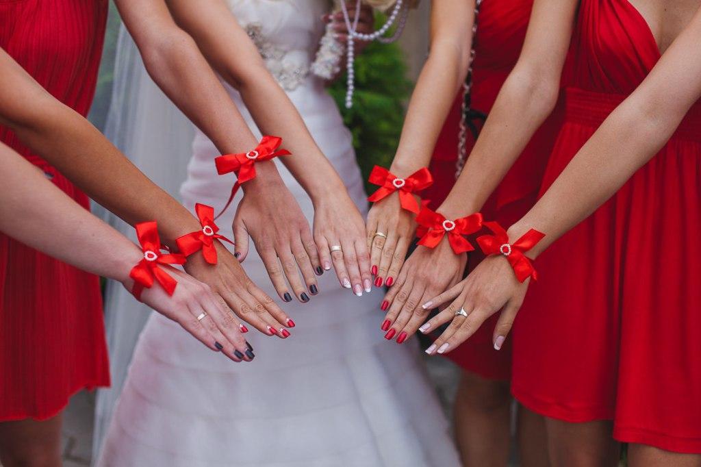 Как сделать браслеты для подружек невесты из лент