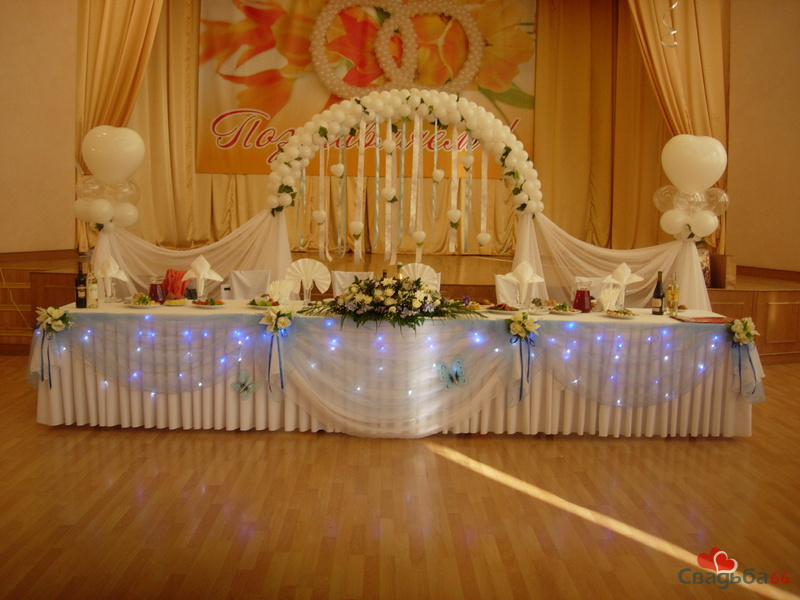 Зала фото украшение свадебного зала