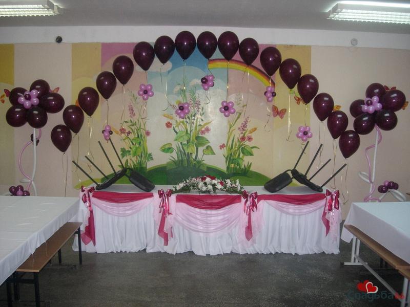Украсить зал к юбилею своими руками фото