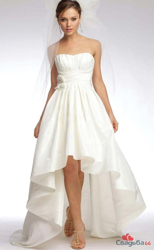 Свадебные платья укороченные спереди фото 7