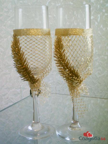 Как украсить бокалы к новому году своими