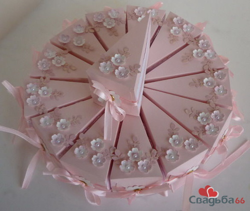 """Бонбоньерка """"Кусочек торта"""""""
